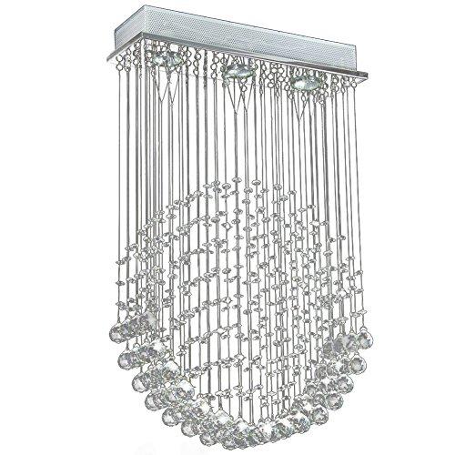 Moderne Kristall Deckenleuchte, Herzform aus Glaskristallen