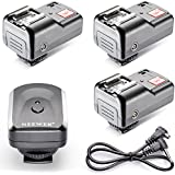 Neewer 2 Channel Wireless Flash Speedlite Trigger with 3 Receivers and PC Sync Cord for Camera