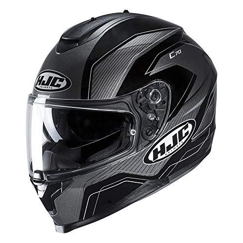 Preisvergleich Produktbild Hjc Schwarz C70 Lianto Motorradhelm (Medium,  Schwarz)