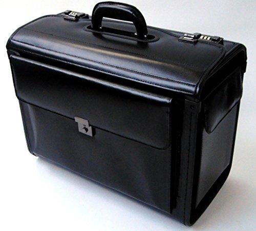 Pilotenkoffer mit Laptopfach - Leder - Handgepäcksgröße (Leder Blake)