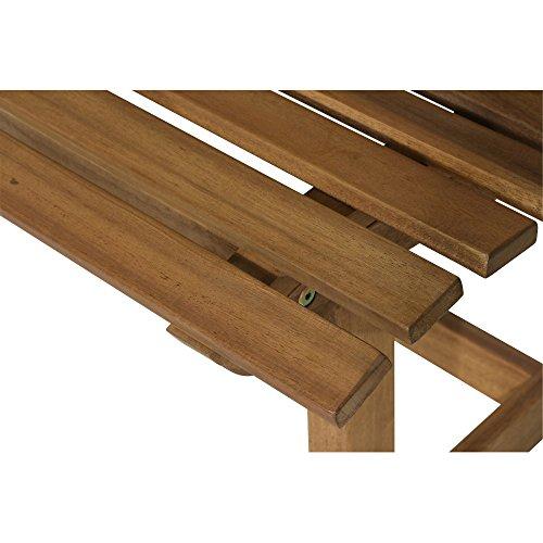 Siena Garden 2er Bank Santana, 67,5x140x92,5cm, Akazienholz, geölt in natur, FSC 100% - 11
