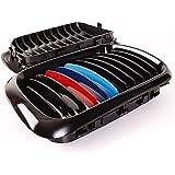 Enrejado - TOOGOO(R)2pzs Enrejado parrilla de rinon Negro M brillante de frente Para BMW M3 E36 Serie 3 97-99