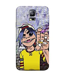 PrintVisa Graffiti Character 3D Hard Polycarbonate Designer Back Case Cover for Samsung Galaxy S5 Mini :: Samsung Galaxy S5 Mini Duos :: Samsung Galaxy S5 Mini Duos G80 0H/Ds :: Samsung Galaxy S5 Mini G800F G800A G800Hq G800H G800M G800R4 G800Y