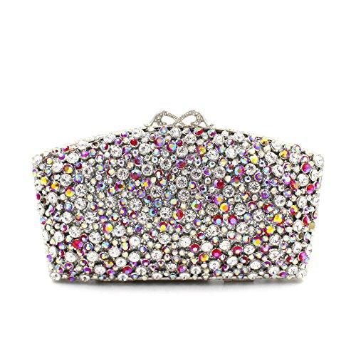 Lady Abend Kupplungen Tasche Sektor Luxus Dinner Party Bunte Shells Abend Stickerei Tasche B