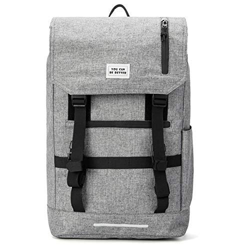 ZwqZwq Großräumige Rucksack Männer Business Travel Bag High-Density Oxford Cloth Außen Mountaineering Tasche Grau Multi-Funktions-3M Reflektor-Streifen 25L zu 40L Erweiterte -