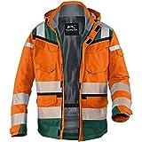 Kübler Winter Warnschutzjacke 1307, Farbe:orange/grün;Größe:XL