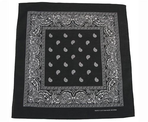 Bandana Biker Kopftuch schwarz-weiß Schwarz (Bandana)
