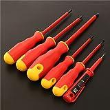 pratique 6pcs de tournevis électrique VDE Outil électrique entièrement isolée haute tension Multi type de tête de vis
