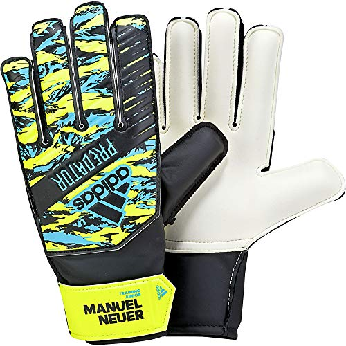 adidas Kinder PRED TRN J MN Soccer Gloves, solar Yellow/Bright Cyan/Black, 5