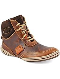 tZaro Tan Wall Genuine Leather Boots