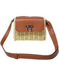 63f68fcdb2c1b Todaytop Damen Vintage Stroh Woven Bag Beach Handtasche Crossbody  Umhängetasche Besonderen Stil für Urlaub und Meer