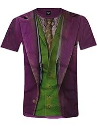 Batman Joker Lookalike T-Shirt DC Comics The Dark Knight Shirt in Joker Style Licensed