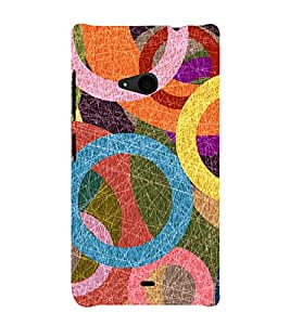 Circular Abstract Painting 3D Hard Polycarbonate Designer Back Case Cover for Nokia Lumia 535 :: Microsoft Lumia 535