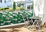 WOHNWOHL Balkonumspannung 90x500cm, Design Gänseblümchen
