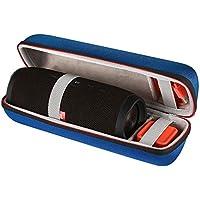 Shucase Tasche für JBL Charge 3 Tragbarer Bluetooth Lautsprecher Robustes Anti-Schock wetterfestes Material für USB-Kabel und Ladegerät (blue)