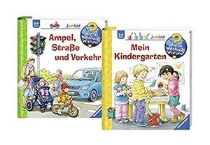 Ravensburger Junior Bücher Set - Wieso? Weshalb? Warum? Mein Kindergarten und Ampel, Straße und Verkehr