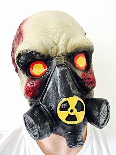 Gas Maske Schädel Zombie The Walking Dead Nuclear Assault Latex Verkleidung (Gas Kostüm Maske)