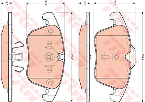 TRW Automotive AfterMarket GDB1705 Kit Pastiglie Freno, Freno A Disco