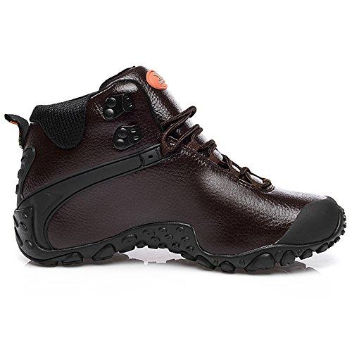 XIANG GUAN Scarpe da escursionismo da passeggio da trekking outdoor stivali in pelle per invernali uomo 81998 Marrone