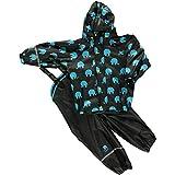 Celavi - Rainwear Suit W. Elephant Print - Pantalon de pluie Garçon - Noir (Black) - FR : 6 ans (Taille fabricant : 116)