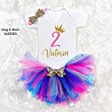 2nd Birthday Outfit Personalised 1-2-3-4-5-6-7-8-9-10 Birthday outfit Tutu skirt Baby girl outfit Toddler outfit