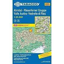 Ahrntal, Rieserferner Gruppe: Wanderkarte Tabacco 035. 1:25000 (Cartes Topograh)