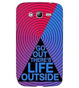 printtech Life Quotes Back Case Cover for Samsung Galaxy Grand i9080:::Samsung Galaxy Grand i9082