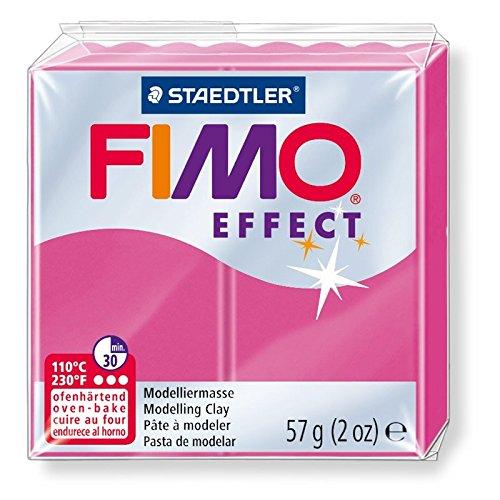 Preisvergleich Produktbild Fimo Effect Modelliermasse 57gr Gemstone colour Rubis Quartz (n°286)