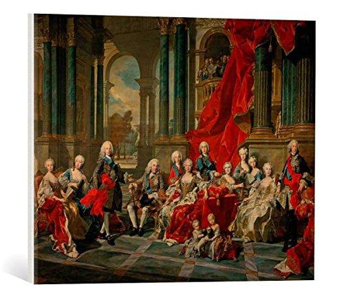 """Quadro su tela: Louis-Michel van Loo """"Philipp V. mit seiner Familie"""" - stampa artistica di alta qualità, tela con intelaiatura in legno, quadro pronto per essere appeso, 60x45 cm"""