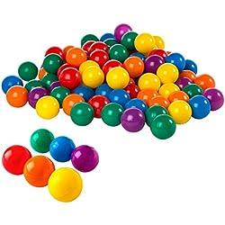 Intex Pack 100 bolas multicolor diámetro 6,5 cm + 2 años (49602)