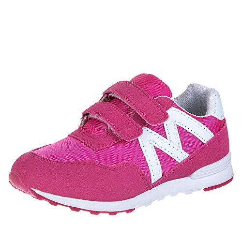 Kinder Schuhe, AB-31, UNISEX FREIZEITSCHUHE Pink Weiß