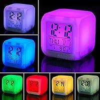 Buffer Renk Değiştiren Alarmlı Dijital Küp Saat