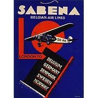 Vintage viaggio Belgio con Sabena Londra a Belgio Germania Danimarca