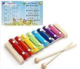 KKAAEE Acht Farbe Glockenspiel-Set Natürliche ungiftig Kinder unter 1 Jahren oder mehr