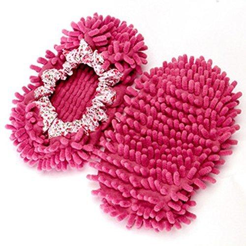 Unbekannt Accmart Komfortable Wischmop-Bodenreiniger in Form von Hausschuhen Hot Pink (Hot Mop)