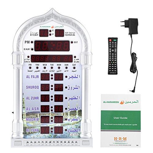 Muslimische Azan Alarm Wanduhr Digitaler Islamische Automatische Wecker Digitale Muslimische Gebet Alarm Athan Islam für Gebet muslimische Ramadan Geschenk EU-Stecker