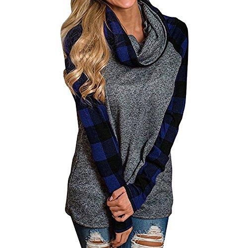 Homebaby felpa tumblr donna a collo alto elegante vintage sportiva maglietta,ragazza casual scuola pullover manica lunga cotone camicette t-shirt calcio maglione autunno