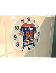 WAYNE GRETZKY LE GRAND - HORLOGE MURALE HOCKEY SUR GLACE EDMONTON OILERS NHL - EDITION LIMITEE LES LEGENDES DU SPORT