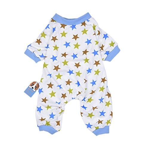 aaa226Star Muster Pet Dog Puppy Pyjama Jumpsuit Weiche Baumwolle Hund Bekleidung Haustier (Kostüm Passt Fett)