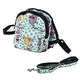 JullyeleDEgant Haustier-Taschen-Rucksack-niedliches rosa Herz/reizendes blaues Tierrucksack-Reise-Fördermaschine mit Leine Bequemes dauerhaftes für Hund