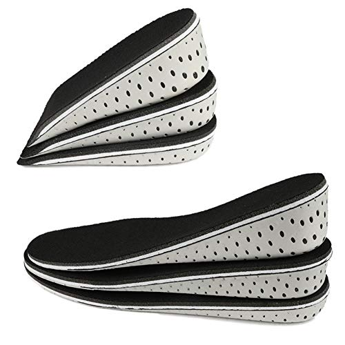 YUANID 1 para Frauen Männer Höhe Erhöhen Einlegesohle Atmungsaktiv Unisex Volle Halbe Einlegesohlen Ferseneinsatz Sportschuhe Pad Kissen 2-4 cm -