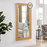 Creative Arts N Frame Long Copper Color Full Length Black Fiber Wood Framed Wall Mirror    Size - 21 X 40 Inch    Solid Premium Black Water Resistant Synthetic Fiber Wood Made   