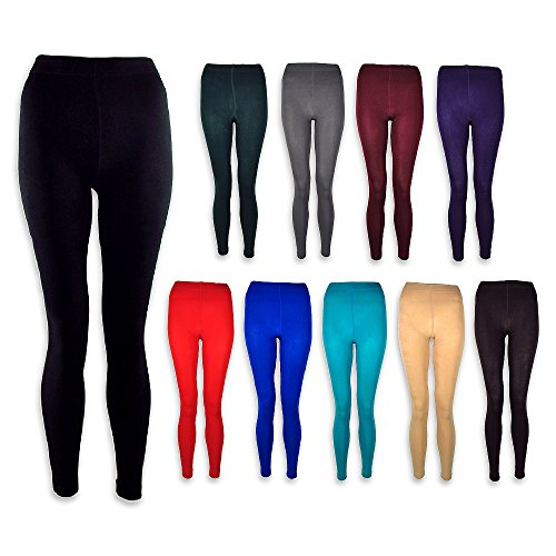 The Outlet London Damen Leggings Schokobraun