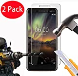 2 Pack - Nokia 6 (2018) Verre Trempé, FoneExpert® Vitre Protection Film de protecteur d'écran Glass Film Tempered Glass Screen Protector Pour Nokia 6 (2018)