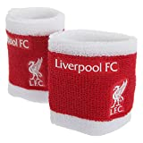 Liverpool FC Official 2 Tone Football Crest Sport Wristbands (Pack Of 2) (One Size) (Red/White)