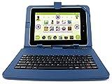 DURAGADGET Support étui bleu + clavier intégré AZERTY (français) pour tablette enfant QILIVE tactile 10.1 pouces Kids - Garantie 2 ans