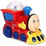 Koji Musical Engine Train Toy For Kids With 4D Light & Sound, Train Set Toys For Kids (Random Color)