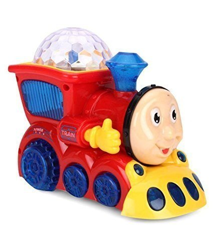 maruti mobile enterprise Bump and Go Musical Engine Train with 4D Light And Sound For Toy For Kids