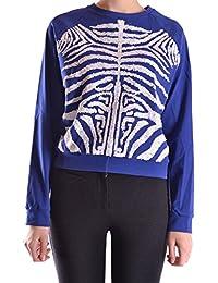 28.5 Women's MCBI001010O Blue Cotton Sweatshirt