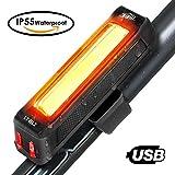 HiHiLL Luces Bicicleta, Luz LED Trasera de Bicicleta, Luces para bicicleta con recargable USB, Luces con Impermeable para Ciclismo, 6 Modos de Brillo, Negro